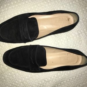 J Crew Black Suede Leather Flats